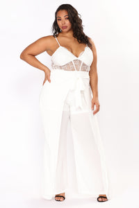 Love Exchange Jumpsuit - White