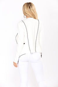 Lets Talk Blazer - White/Black