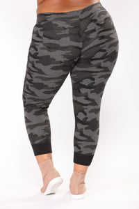 Hey Soldier Camo Lounge Joggers - Charcoal