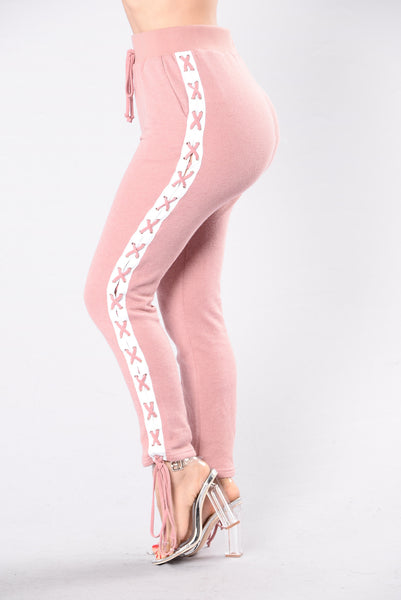 Break A Sweat Pant - Pink/White