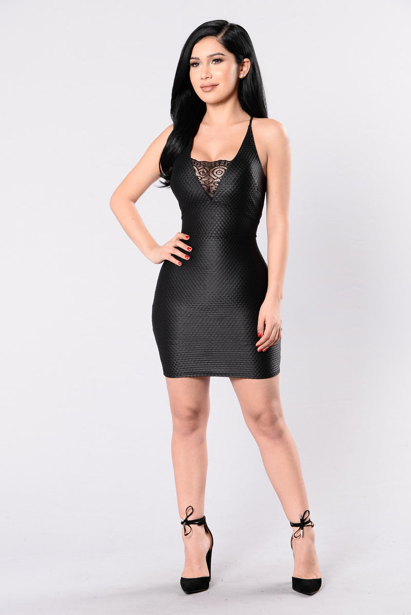 Animal Instincts Dress - Black