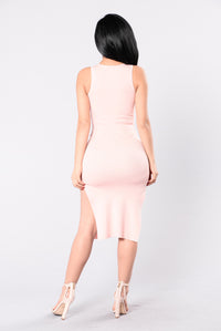He Loves My Style Dress - Blush