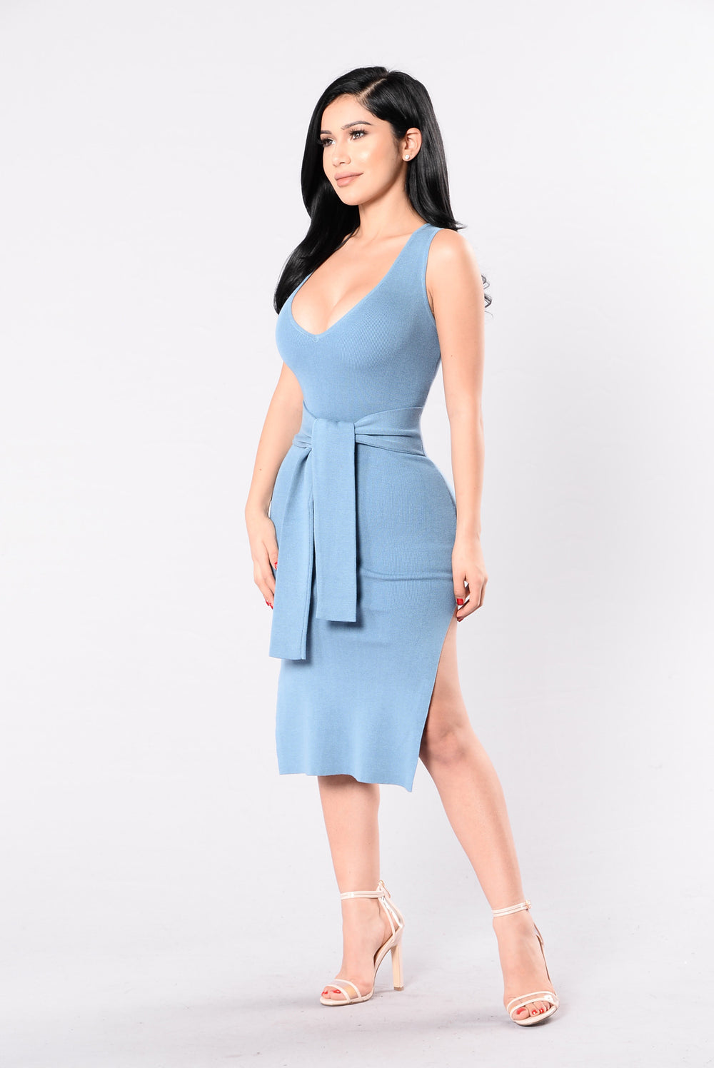 He Loves My Style Dress - Niagara Blue