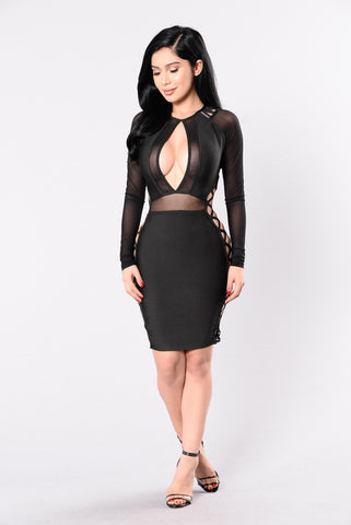 Melini Bandage Dress - Black