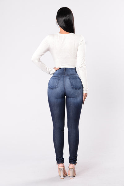 Nothing Butt Trouble Jean - Dark Wash