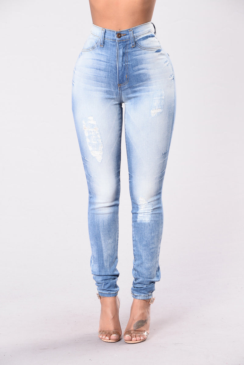 Show Me What You Got Jeans - Medium Blue