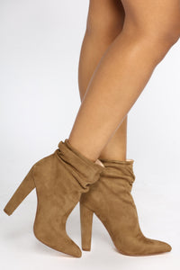 Angelina Scrunch Bootie - Olive