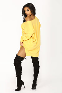 Love It Or Leave It Sweater - Yellow