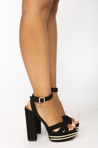 Kathryn Strappy Heel - Black
