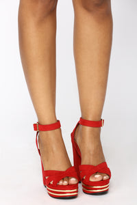 Kathryn Strappy Heel - Red