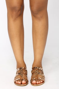 Lyric Flat Sandal - Rose Gold