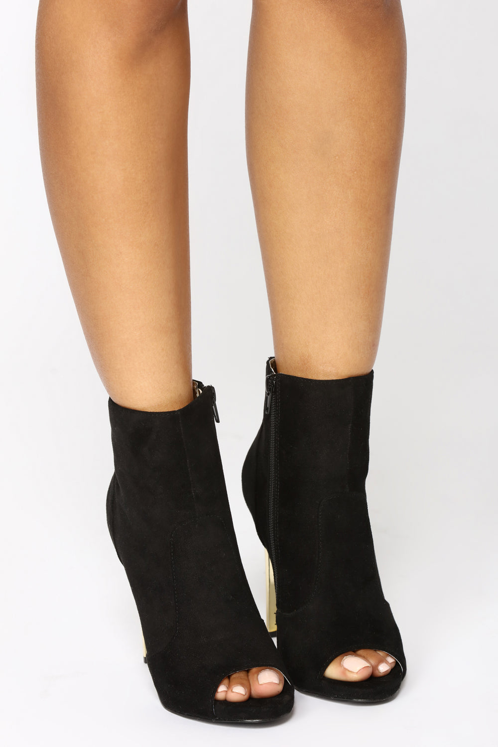 Marilyn Suede Bootie - Black