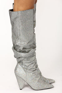 Hollywood Heel Boot - Pewter