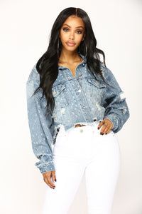 Talk That Talk Denim Jacket - Medium Wash