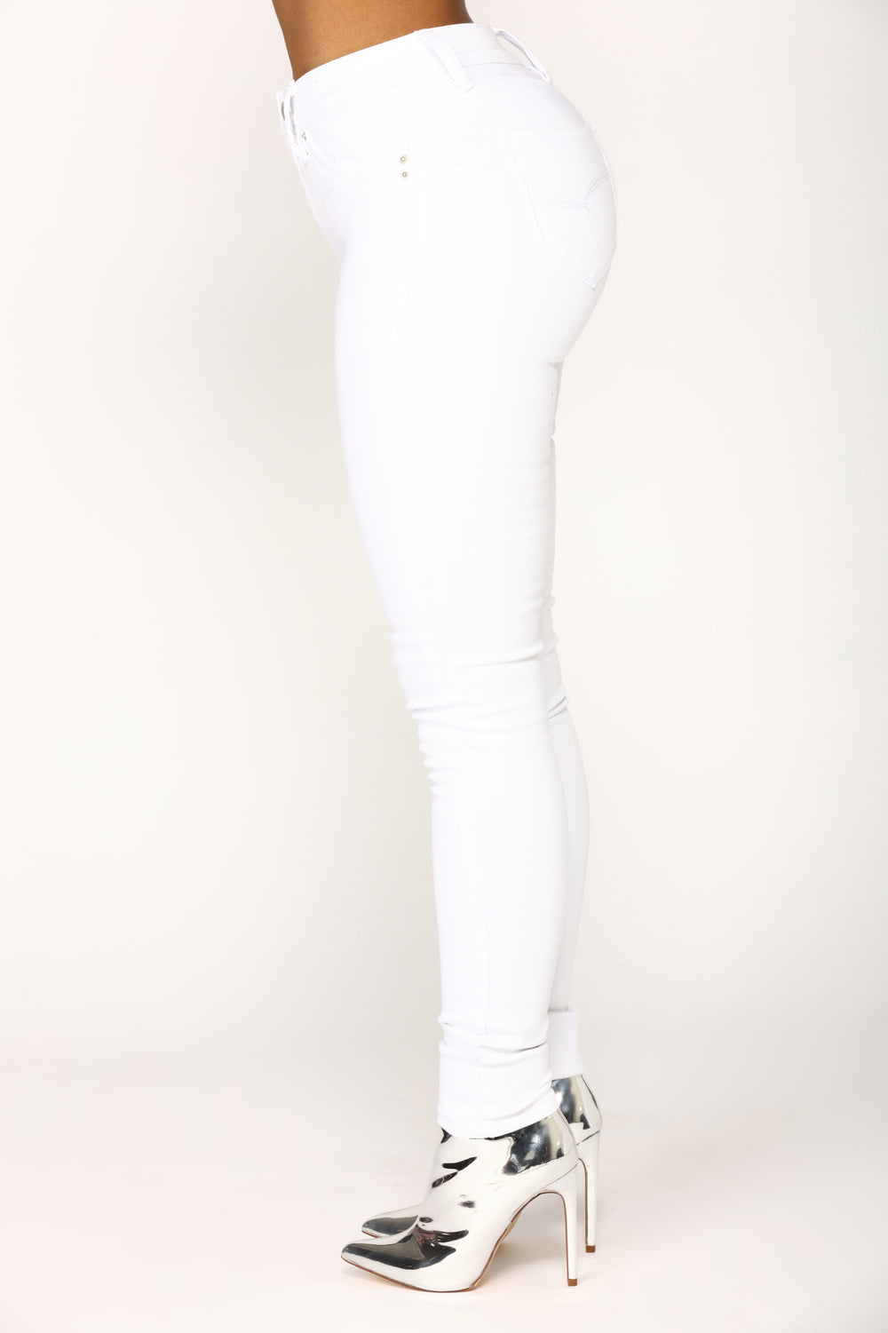 Keepin' It Real High Rise Jeans - White