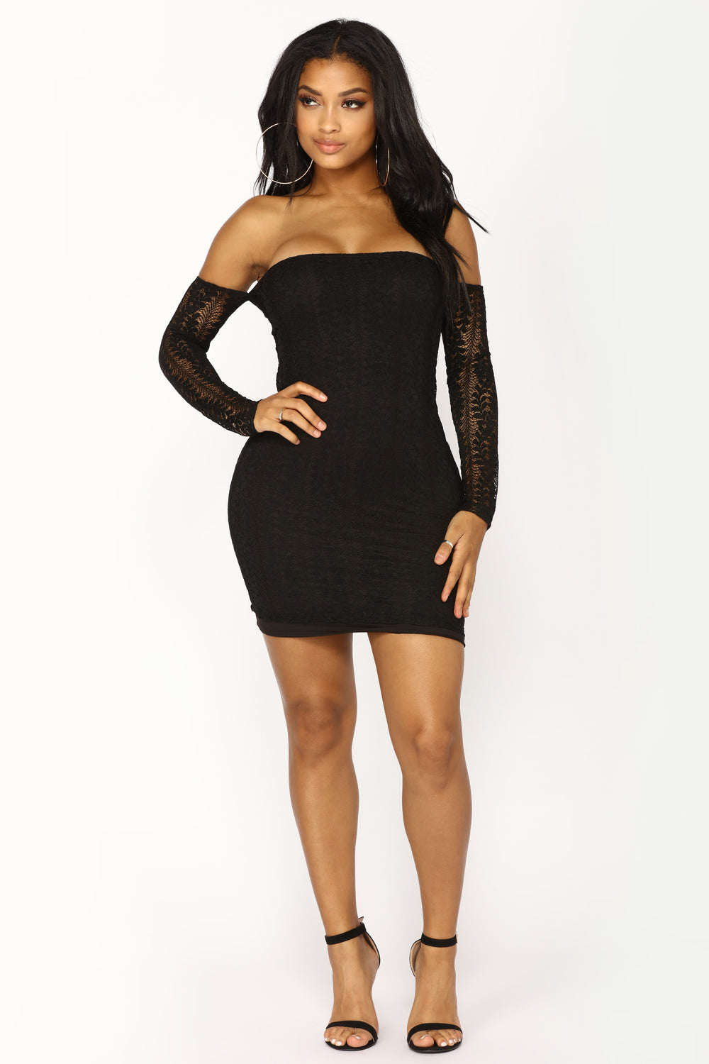 Lena Lace Dress - Black