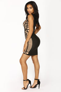 Not Doing This With You Dress - Black/Nude