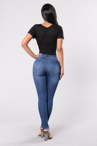 By Your Side Jeans - Medium Blue