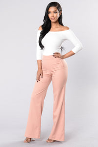 Straight To Business Pants - Mauve