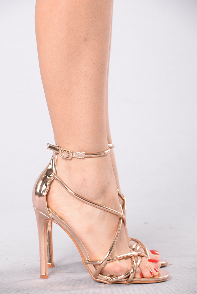 Highlight Of The Party Heel - Rose Gold