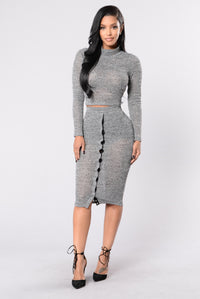 Snap Out Of It Skirt - Grey