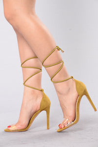 Shine Right Through Heel - Olive