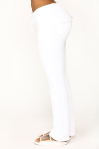 Girl Next Door Velour Lounge Set - White