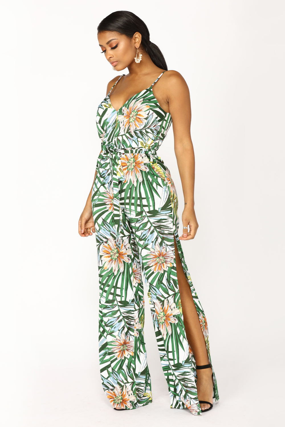 I'm Your Babe Tonight Jumpsuit - Green