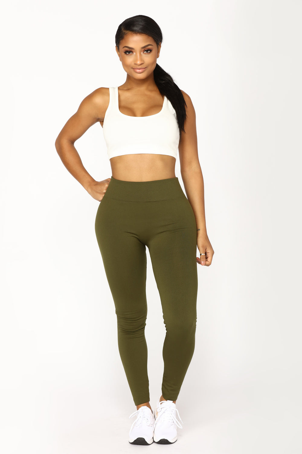 Yes Fleece III Leggings - Olive