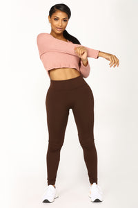 Yes Fleece III Leggings - Brown