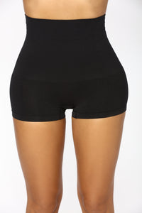 Retro Shapewear Shorts - Black