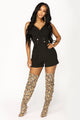 Push My Buttons Romper - Black