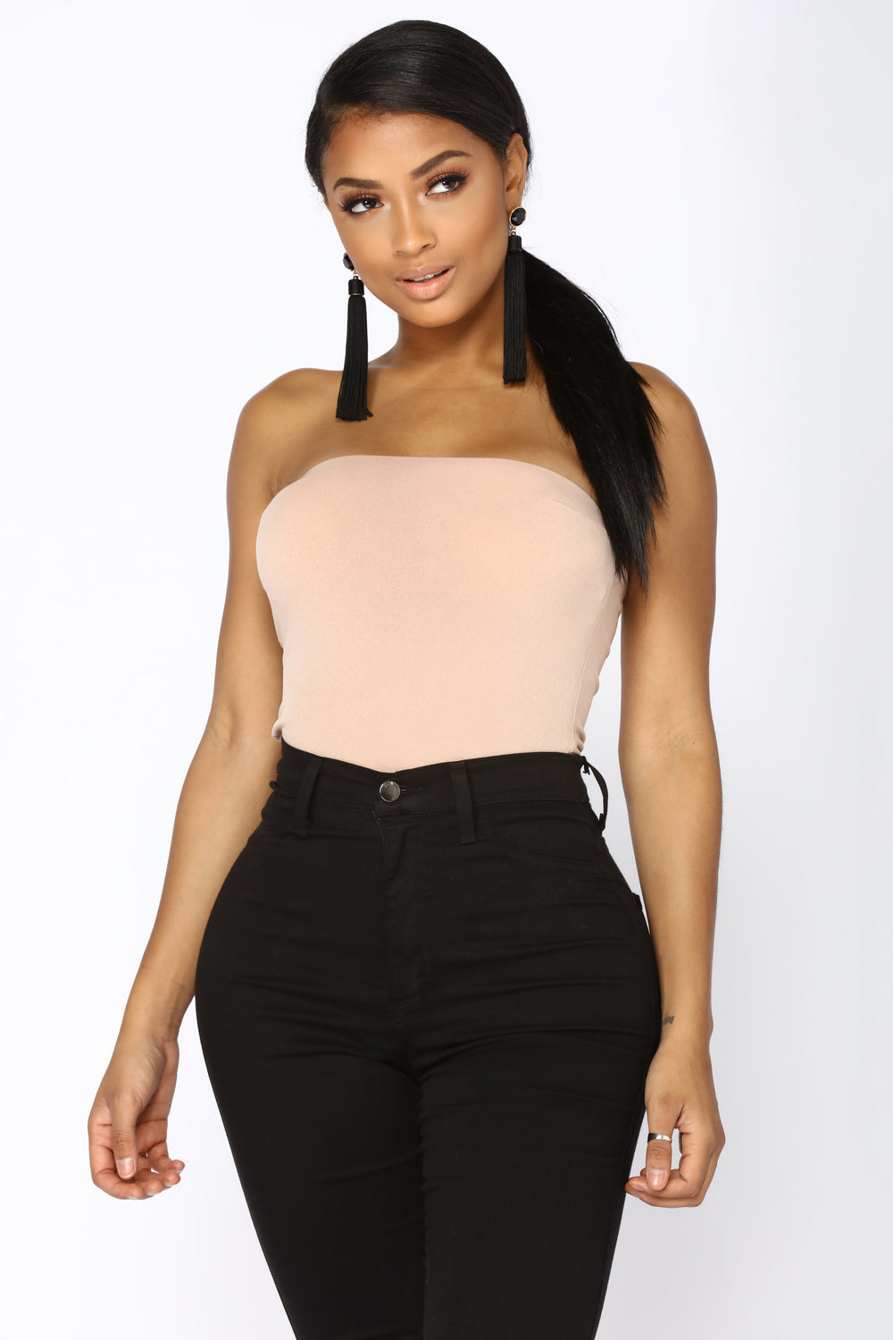Madison Strapless Bodysuit - Taupe