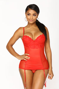 Your Future Lover Chemise Set - Red
