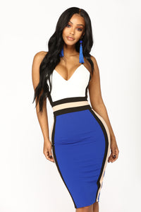 Queen Of The Night Midi Dress - Royal