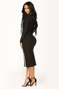 Kallie Midi Dress - Black