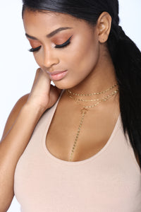 Star Of The Night Choker - Gold