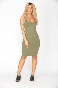 Jess Mini Dress - Olive
