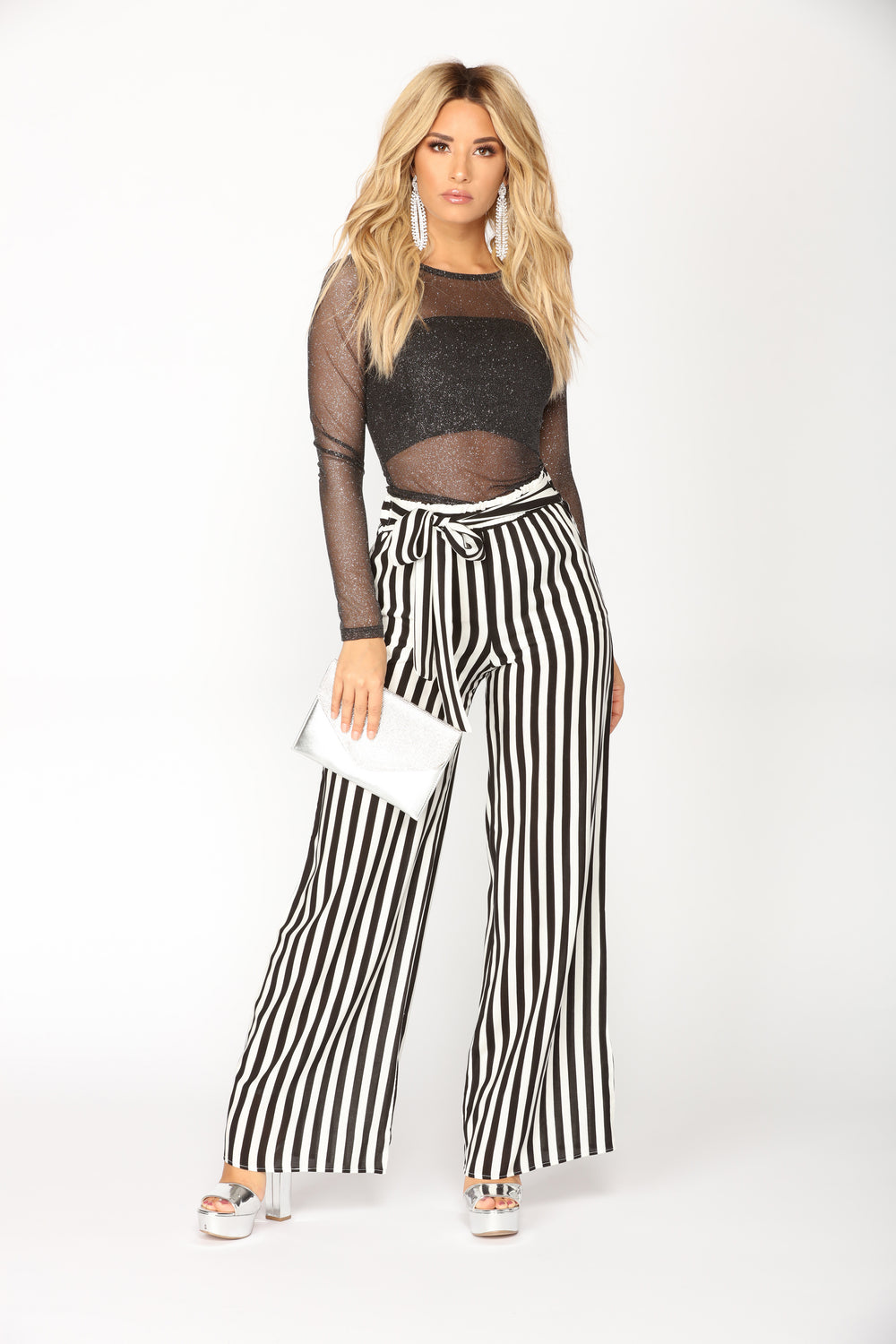Classic Stripe Pants - Black/White