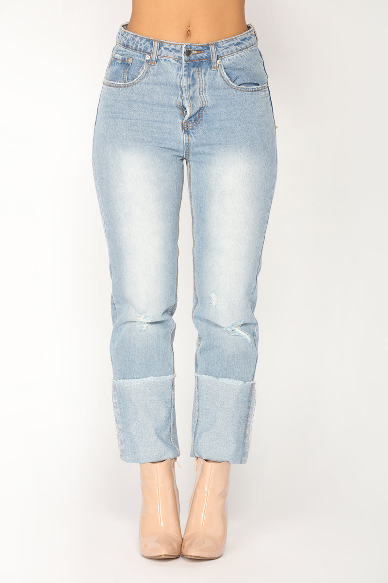 3afb58531d37 Keep Up With Me Boyfriend Jeans - Light Blue Wash