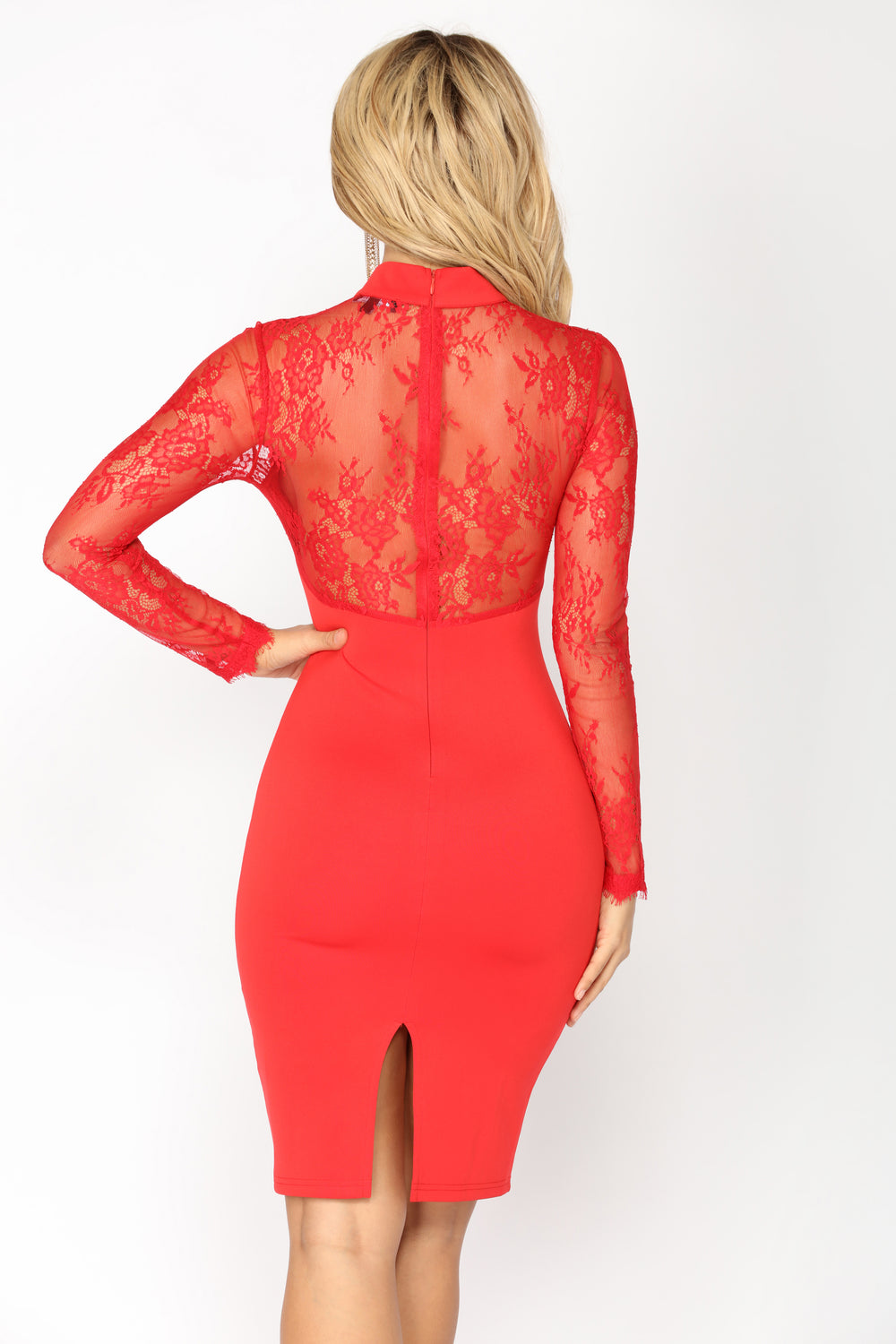 The Case of Lace Dress - Red