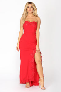 Shot At Love Maxi Dress - Red Angle 1