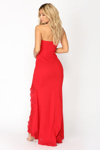 Shot At Love Maxi Dress - Red Angle 3