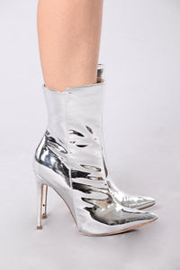 Not Your Basic B Boot - Silver