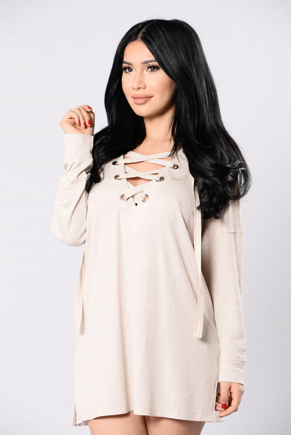 Hazey Top - Light Taupe