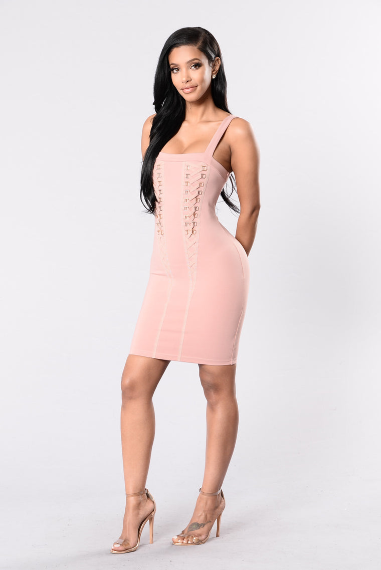 Tight Delight Dress - Mauve
