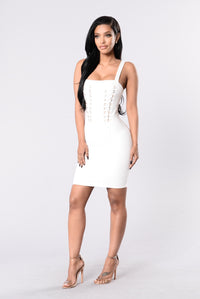 Tight Delight Dress - Ivory