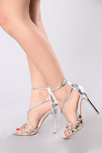 Highlight Of The Party Heel - Silver