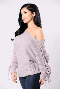 Hold It Down Sweater - Lavender