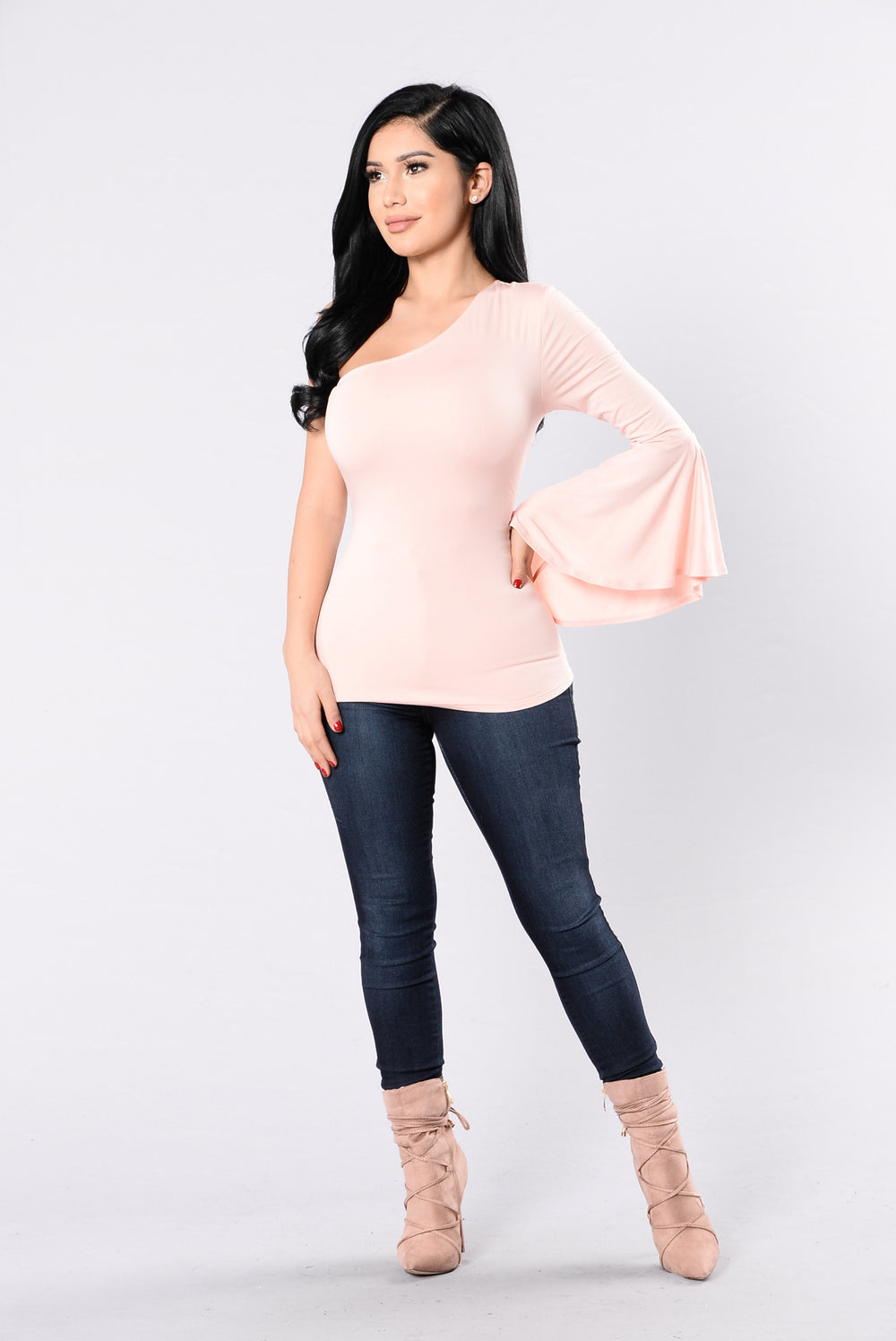 Big Spender Top - Baby Pink
